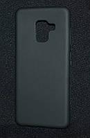 Чехол силиконовый Samsung A530/A8 2018 черный  (Самсунг а530, а8 и2018, чехол- накладка, бампер, кейс)