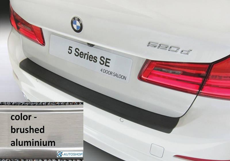 RBP4975 rear bumper protector BMW G30 5-series 4 dr 10.2016> ALU