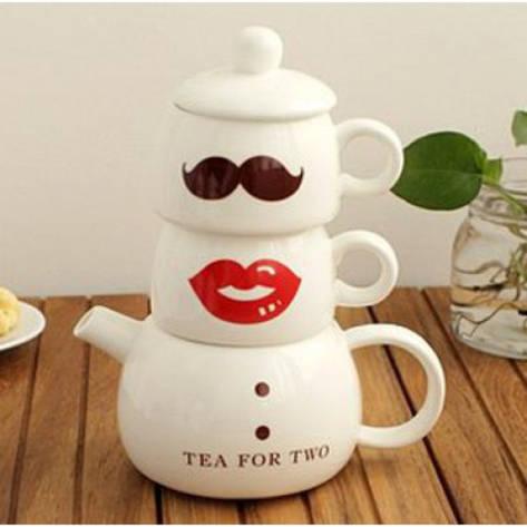 Кофейный набор для двоих Мистер и миссис, фото 2