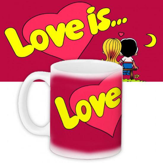 Чашка red Love is...