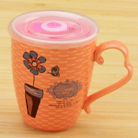 Чашка заварочная Цветок с таймером, фото 2