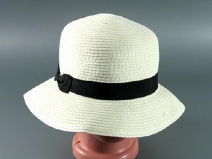 Соломенная шляпа Двадцатые 28 см светло-бежевая