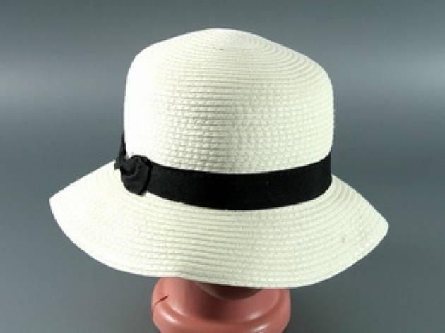 Соломенная шляпа Двадцатые 28 см светло-бежевая, фото 2