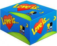 Блок жвачек Love is банан-клубника подарки на день рождения