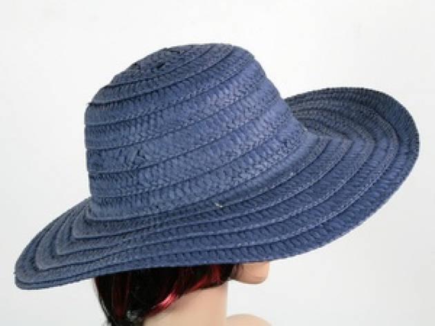 Соломенная шляпа Тисаж 42 см синяя, фото 2