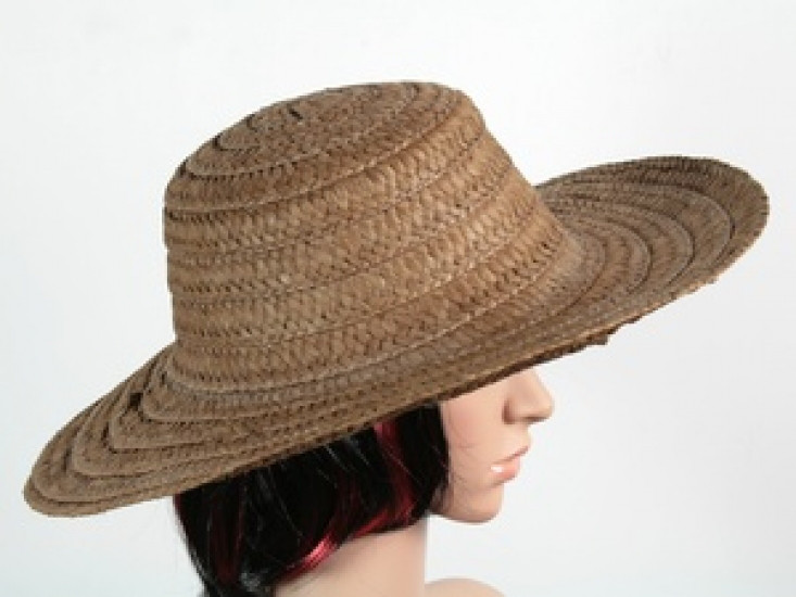 Соломенная шляпа Тисаж 42 см темно-коричневая