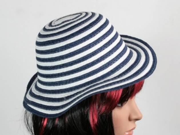 Соломенная шляпа детская Энфант 28 см бело-синяя, фото 2