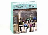 Подарочный пакет Цветочный магазин 26 см