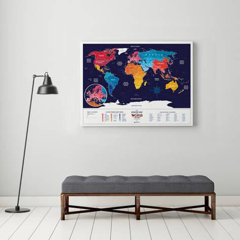 Скретч карта мира Travel Maps Holiday World, фото 2