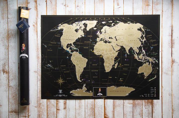 Скретч карта My Maps Black edition на Английском в тубусе, фото 2