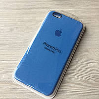 Силиконовый голубой чехол для iphone 6+/6S+ в упаковке