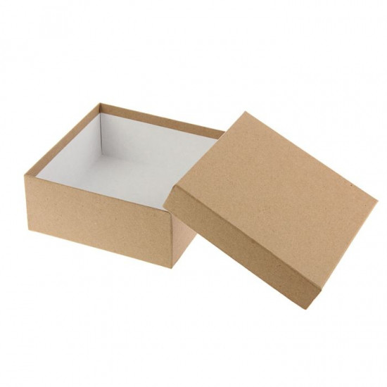 Подарочная коробка крафт 28х28х8 см