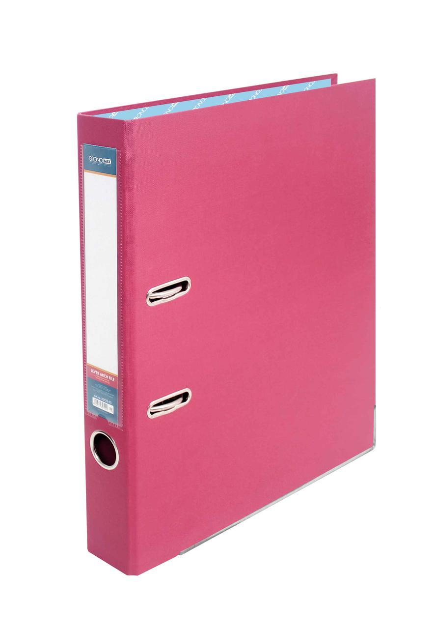 Папка-реєстратор Economix 39720*-09, А4, 50 мм, рожевий (зібрана)