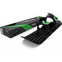 Монолыжа Plastkon OneFoot Miniski Черная с зеленым