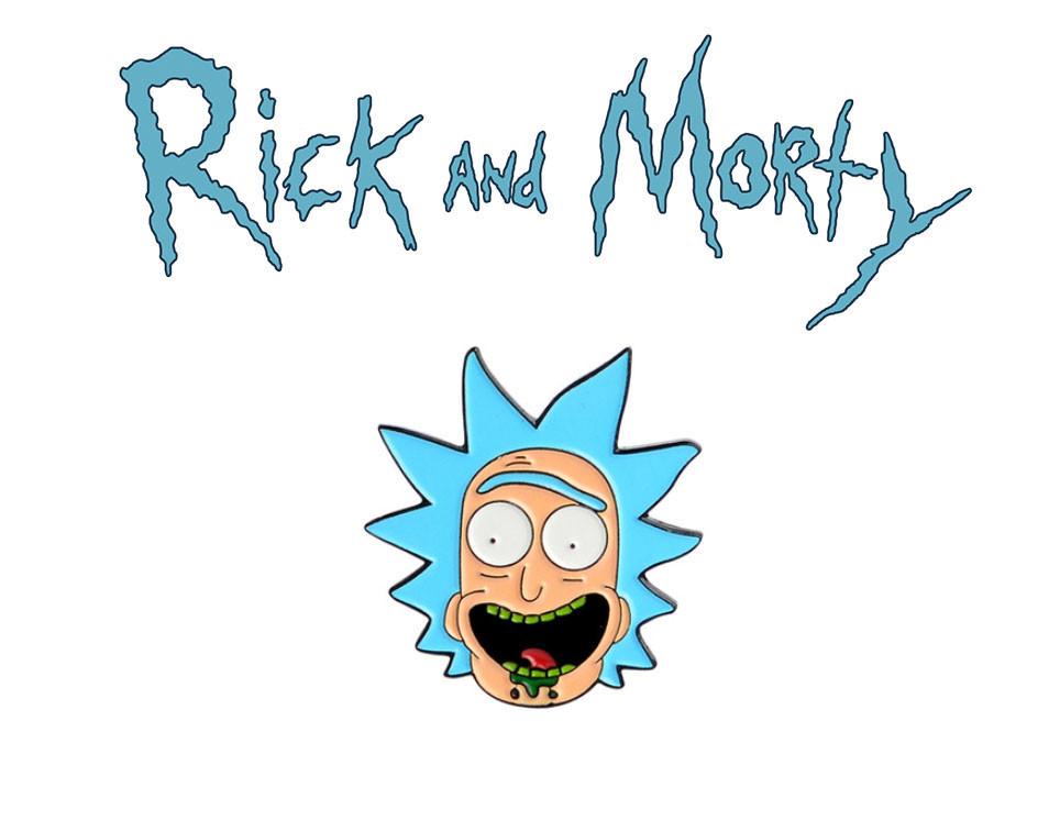 Брошь пин значок с Риком Rick and Morty Рик и Морти