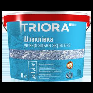 Шпаклевка универсальная акриловая Triora, 1.5 кг