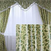 """Комплект ламбрекен со шторами из ткани """"Блэкаут"""" 089лш098(А)"""