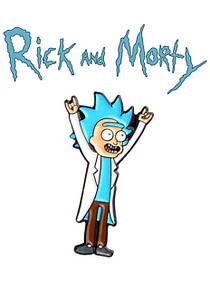 Брошь пин значок с Риком в полный рост Rick and Morty Рик и Морти