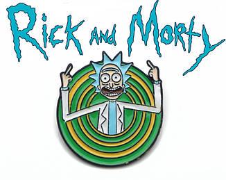 Брошь пин значок с Риком в портале Rick and Morty Рик и Морти