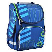 Ранец (рюкзак) - каркасный школьныйдля мальчика синий - Механик шестерни, PG-11 Mechanic, Smart 554519