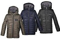 Зимняя куртка-парка для мальчика на флисе