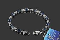 Серебряный браслет с синими фианитами