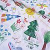 Хлопок Премиум с детскими рисунками Радуга, ширина 150 см