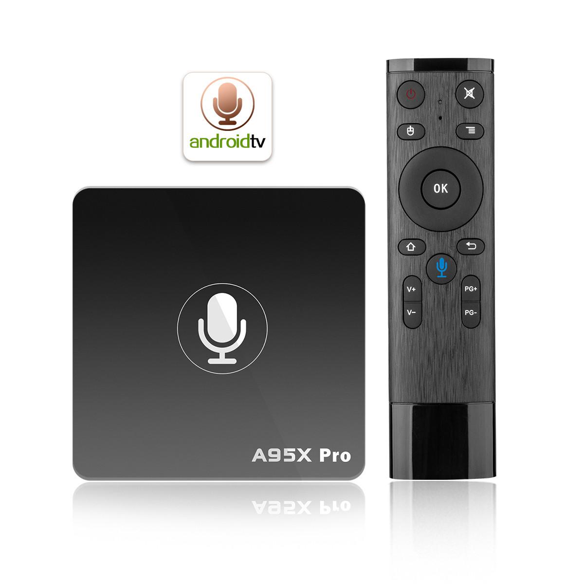 Смарт ТВ приставка A95X Pro 2.4G Voice Control 2G + 16G