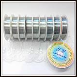Проволока медная диам. 0,4 мм цвет серебро  .(упаковка 10 бобин), фото 2