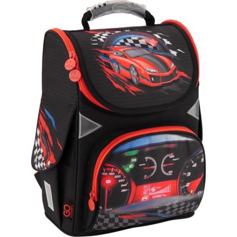 92687a9083c5 Ранец (рюкзак) - каркасный школьный для мальчика - Машина Гонки, GO18-5001S
