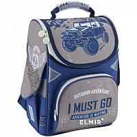 Ранец (рюкзак) - каркасный школьныйдля мальчика - Машина Джип,GO18-5001S-18