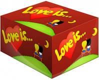Блок жвачек Love is вишня-лимон подарки на день рождения