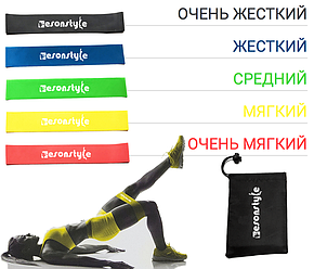 Резинки для фитнеса, экспандер, Esonstyle из 5 шт., фото 2