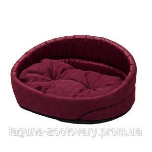 Лежак  ЛЮКС-1 (40*30*17см) бордо для собак и кошек
