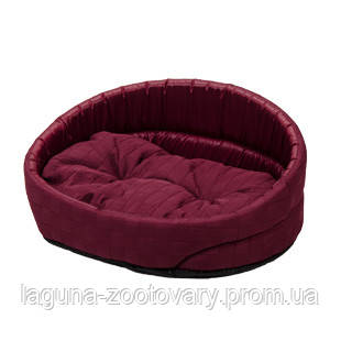 Лежак  ЛЮКС-1 (40*30*17см) бордо для собак и кошек, фото 2