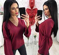 Блуза женская из ткани супер-софт с V-образным вырезом (К23686), фото 1