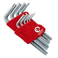Набор Г-образных ключей TORX 9 ед. T10-T50 Cr-V Intertool HT-0604