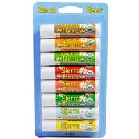 Натуральные бальзамы для губ из пчелиного воска, 8 бальзамов, Sierra Bees