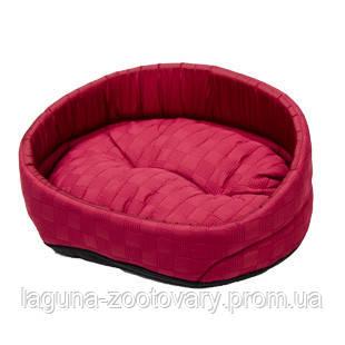 Лежак ЛЮКС- 4 (57*79*24см) красный, для собак