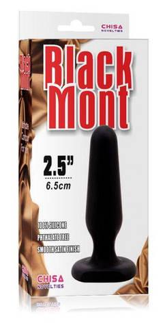 Анальная пробка Black Mont S, черная, фото 2