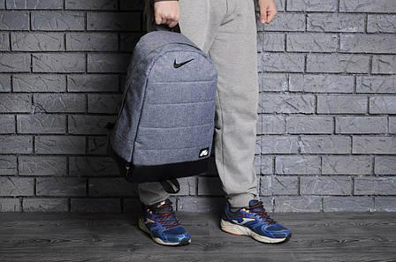 Городской спортивный рюкзак в стиле Nike Air светлый-джинс, фото 2
