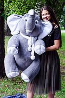 Большой слоник Дамбо розовый,серый