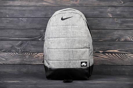 Городской спортивный рюкзак в стиле Nike Air серый-джинс, фото 2