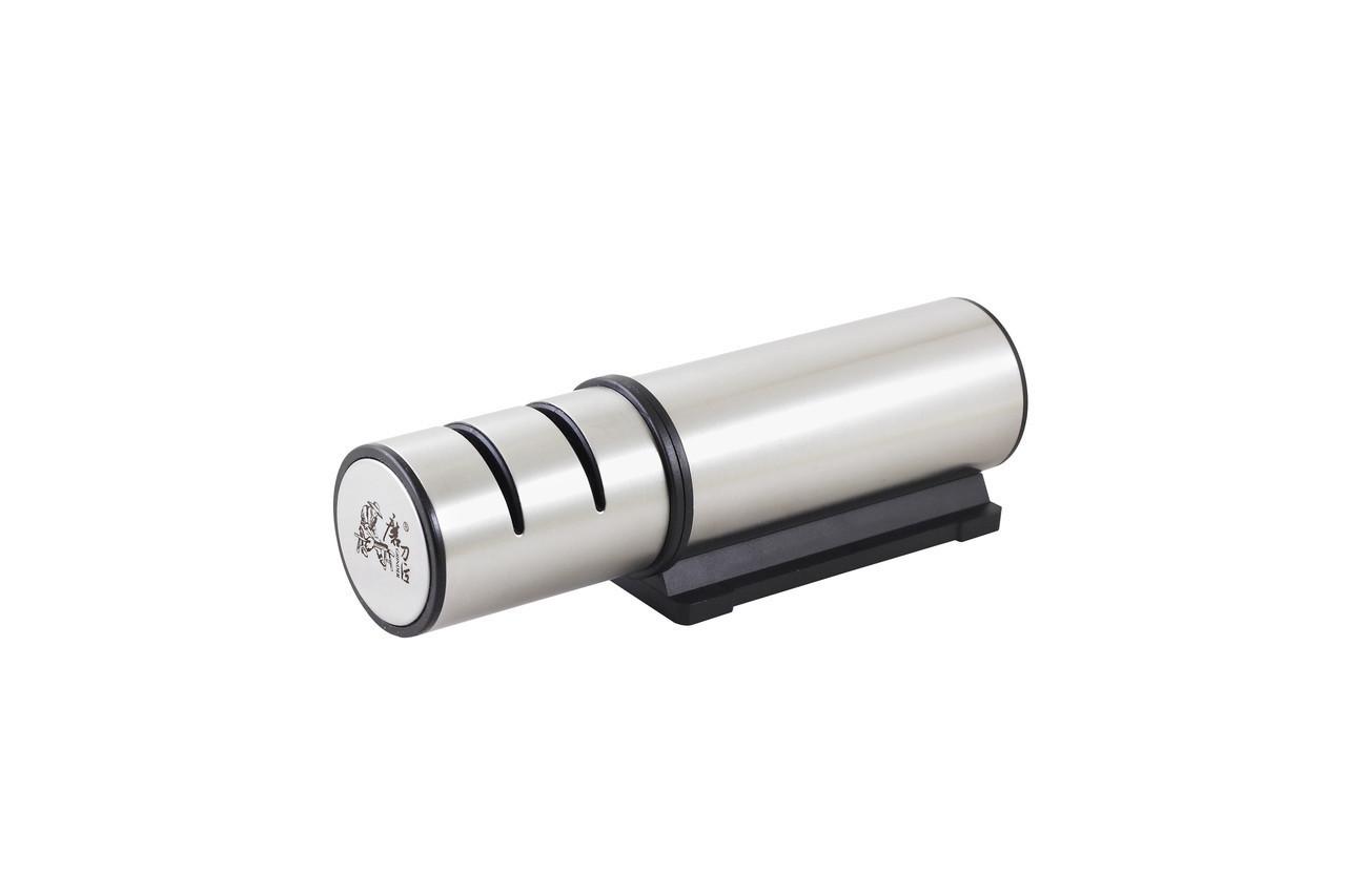 Точилка для ножей с алмазным покрытием, механическая, прорезиненная основа, шлифовальный круг Taidea