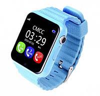 Умные часы V7K UWatch с GPS голубые