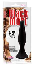 Анальная пробка Black Mont L, черная, фото 3