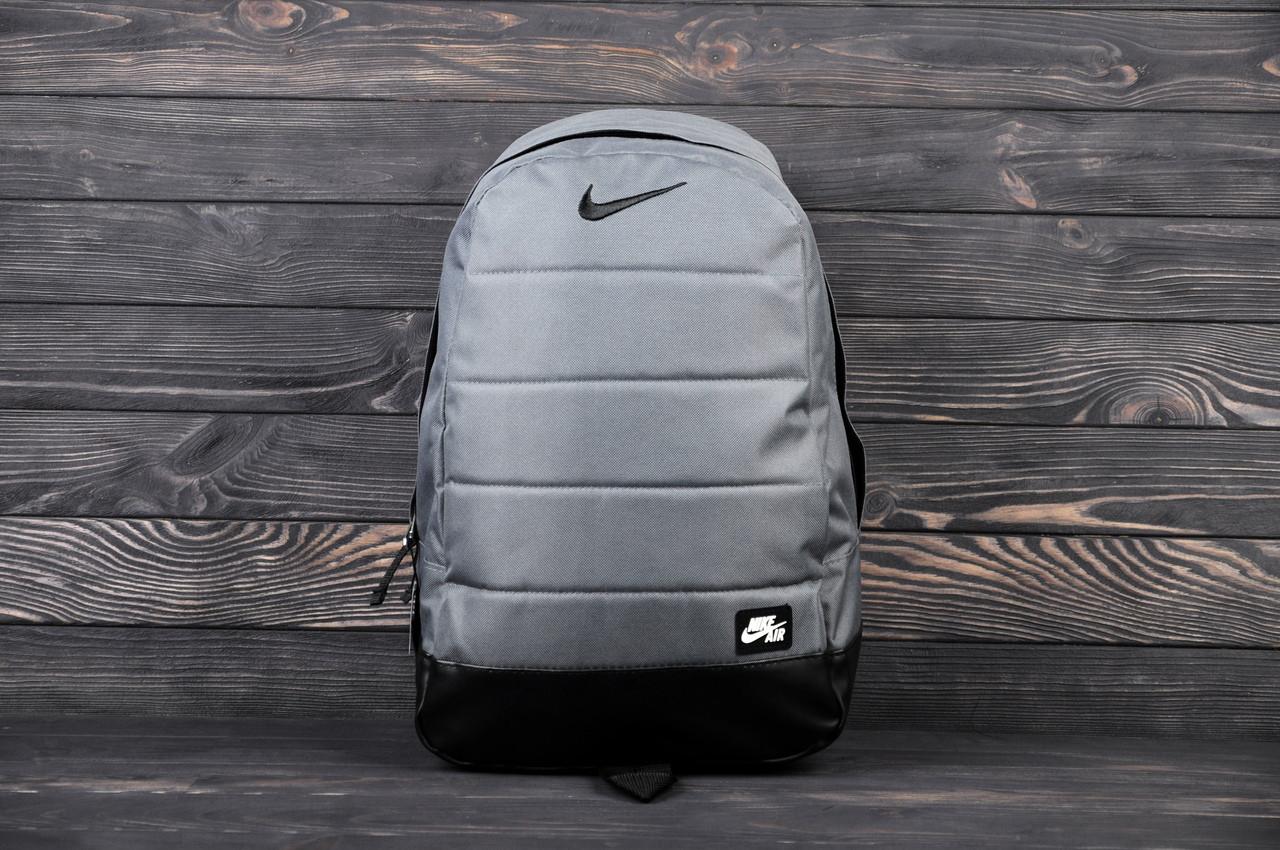 Городской спортивный рюкзак в стиле Nike Air серый