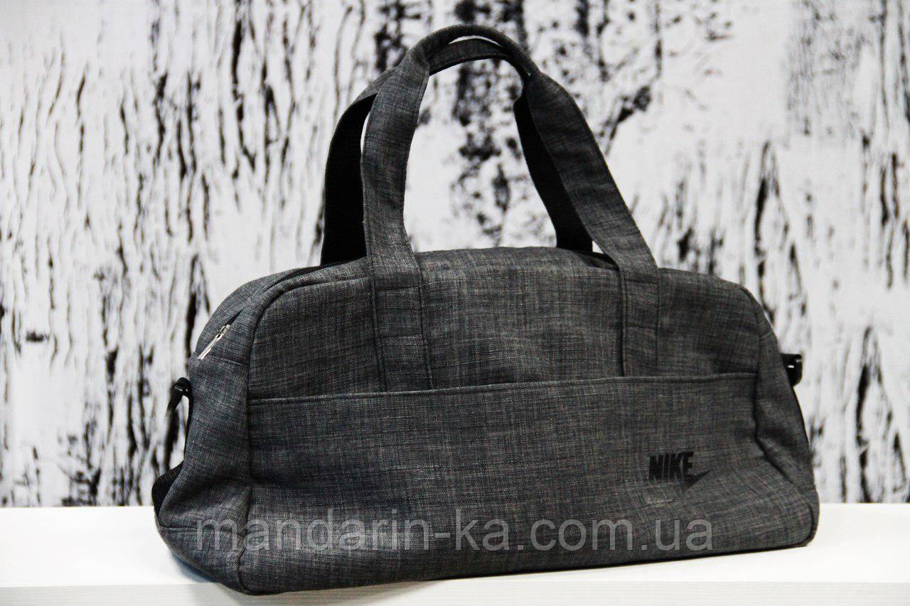 Мужская  городская спортивная сумка  Nike (Найк) серая (реплика)