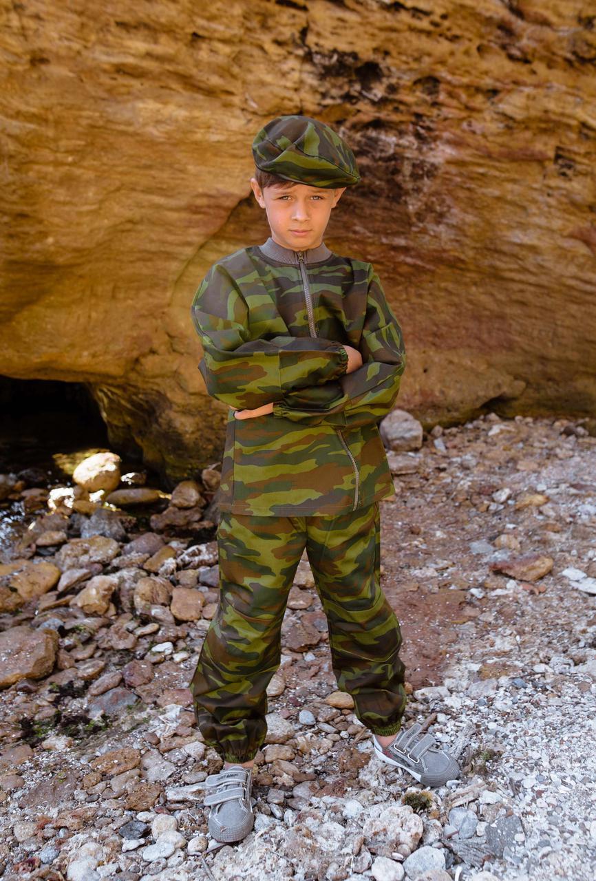 Детский камуфляж игровой костюм для мальчиков Следопыт цвет Флора