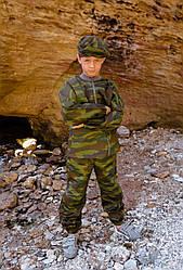Детский камуфляж игровой костюм для мальчиков Следопыт цвет Флора рост 152